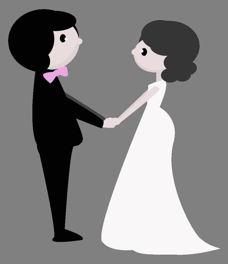 Blahopřání pro novomanžele, obrázková přáníčka - Blahopřání novomanželům